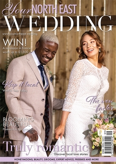 Cover of the September/October 2021 issue of Your North East Wedding magazine