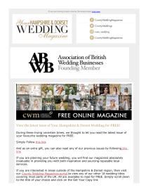 Your Hampshire and Dorset Wedding magazine - March 2021 newsletter