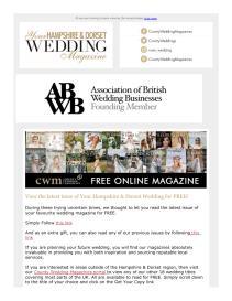 Your Hampshire and Dorset Wedding magazine - April 2021 newsletter