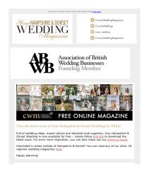 Your Hampshire and Dorset Wedding magazine - August 2021 newsletter