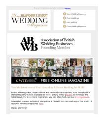 Your Hampshire and Dorset Wedding magazine - September 2021 newsletter