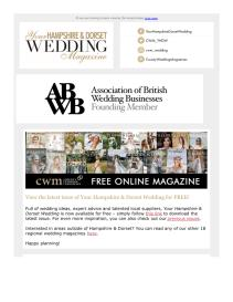 Your Hampshire and Dorset Wedding magazine - October 2021 newsletter