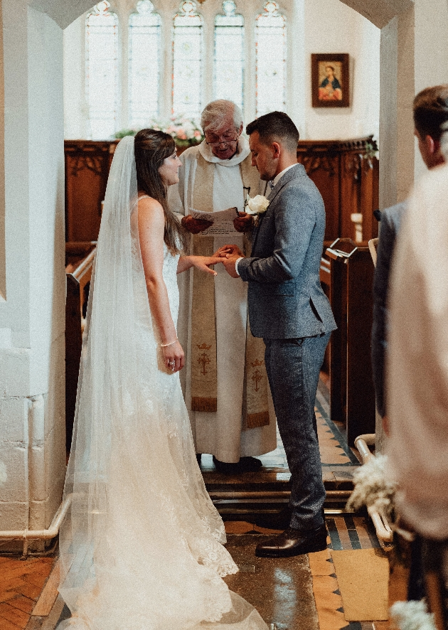Service conducted by bride's grandfather