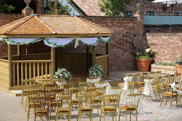 gazebo wedding outside