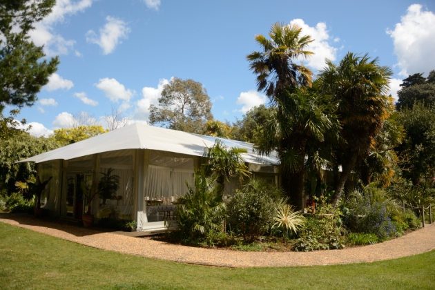 Abbotsbury Subtropical Gardens, marquee in gardens