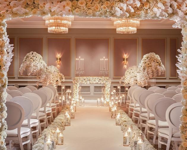 wedding suite inside hotel full of flowers luxury looking