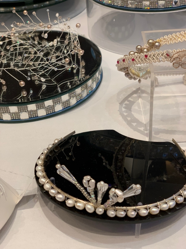 different jewellery items on stands