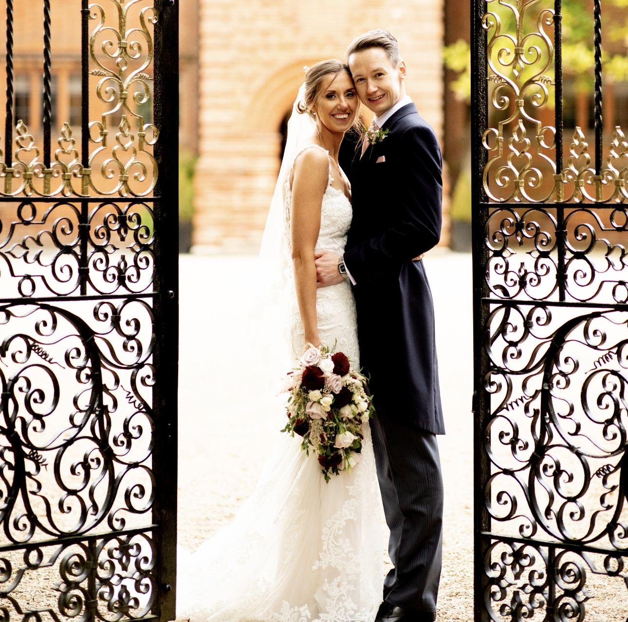 Couple at gates